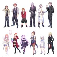 「クロストライブ」キャラクターイラスト (クリックで拡大)